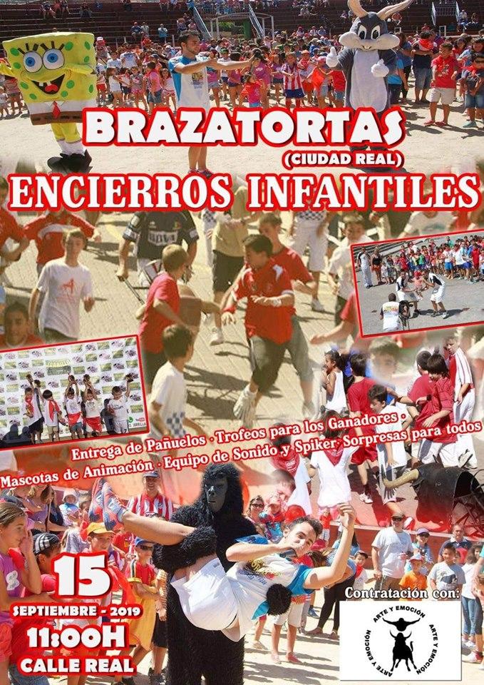 Cartel anunciador encierros infantiles en Brazatortas